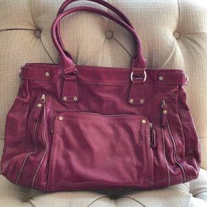 Longchamp Magenta Pink Patent Leather Handbag 💕
